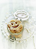 Children's smiley biscuits in a jar
