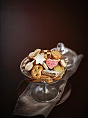 Glass dish of mixed Bredele biscuits