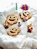 Children's smiley biscuits for Christmas