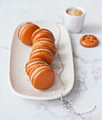 Salted-butter toffee Macarons