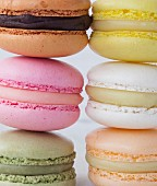 Close-up of a composition of Macarons