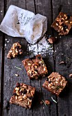 Chestnut flour and dried fruit cake
