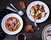 Fish soup and salt-cod à la livournaise