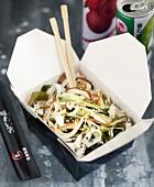 Vegetarian take-away bo-bun
