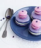 Macaron-style violet Religieuse