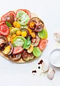 Multicolored Tomato Pie