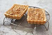 Caramelized walnut pies