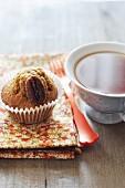 Pumpkin and pecan muffins for tea