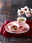 Summer berry muffins and tea