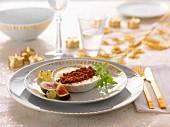 Foie gras Crème brûlée with gingerbread crumbs