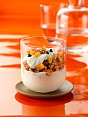 Fromage blanc with homemade granola