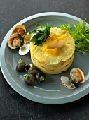 Fish and seafood Parmentier