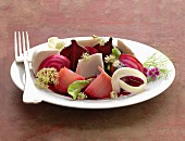 Beetroot and cheese salad