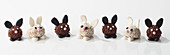Rabbit-shaped Easter chocolate truffles
