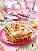 Beef and vegetable lasagnes with Amora mustard