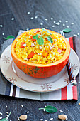 Pumpkin risotto with sage
