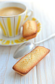 Cup of coffee and Financiers