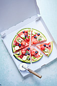 Fruity watermelon pizza