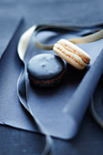 Black and white Macarons