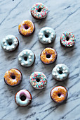 Composition with a variety of donuts