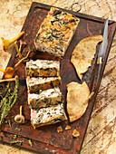 Ham and mushroom terrine