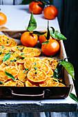 Baked mandarins