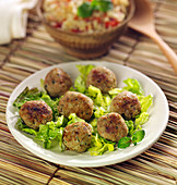 Lamb, mint and cumin meatballs