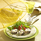 Cheese, poppy seed and olive bites