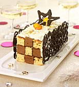 Checkered log cake