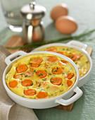 Carrot clafoutis