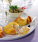 Scallop flaky pastry appetizers