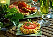 Sweet corn and pepper fritters