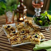 Pissaladière bites for an aperitif