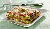 Leek and beef lasagnes