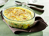 Haddock and leek mashed potato pie