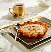 Chestnut cream crisp tartlet
