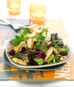 Chicken and almond mixed salad