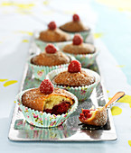 Raspberry-lemon tea cakes