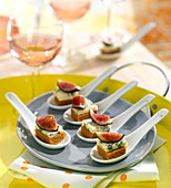 Stilton and fig appetizers