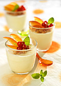 White chocolate mousse with fruit