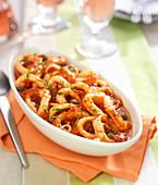 Squid rings in tomato sauce