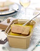 Spicy Port and Armagnac duck foie gras terrine