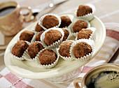 Dark chocolate and cardamom truffles