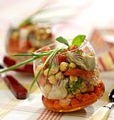 Chickpea, artichoke and confit tomato salad