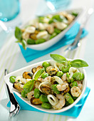 Seafood and broad bean stir-fry