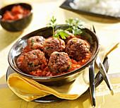 Pork shoulder meatballs in tomato sauce