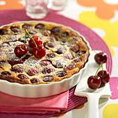 Cherry batter pudding