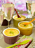 Coconut-lime individual flans