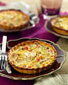 Small Jerusalem artichoke, boiled ham,Comté and artichoke base quiches