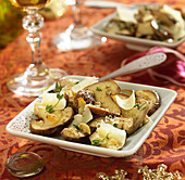 Pan-fried ceps with parmesan